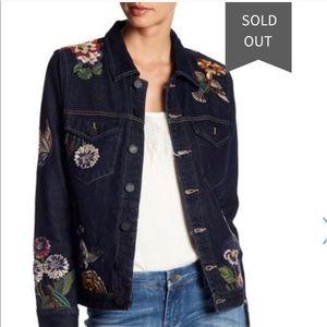 Blank NYC emb denim jacket